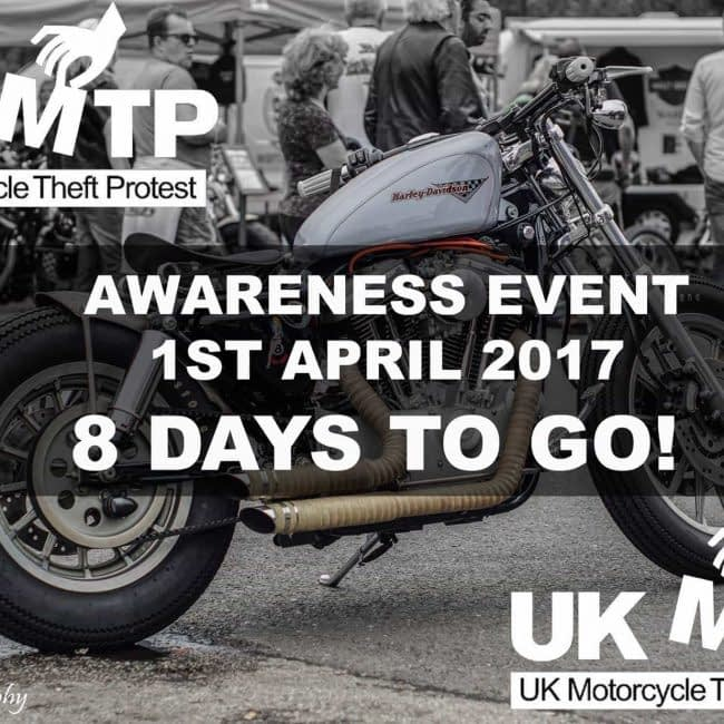 UK Motorcycle Theft Protest Awareness ride. GREENWICH